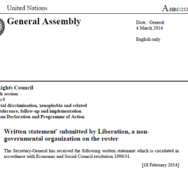 Mauritania Statement - March 2014