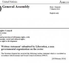 Sri Lanka Statement - March 2014